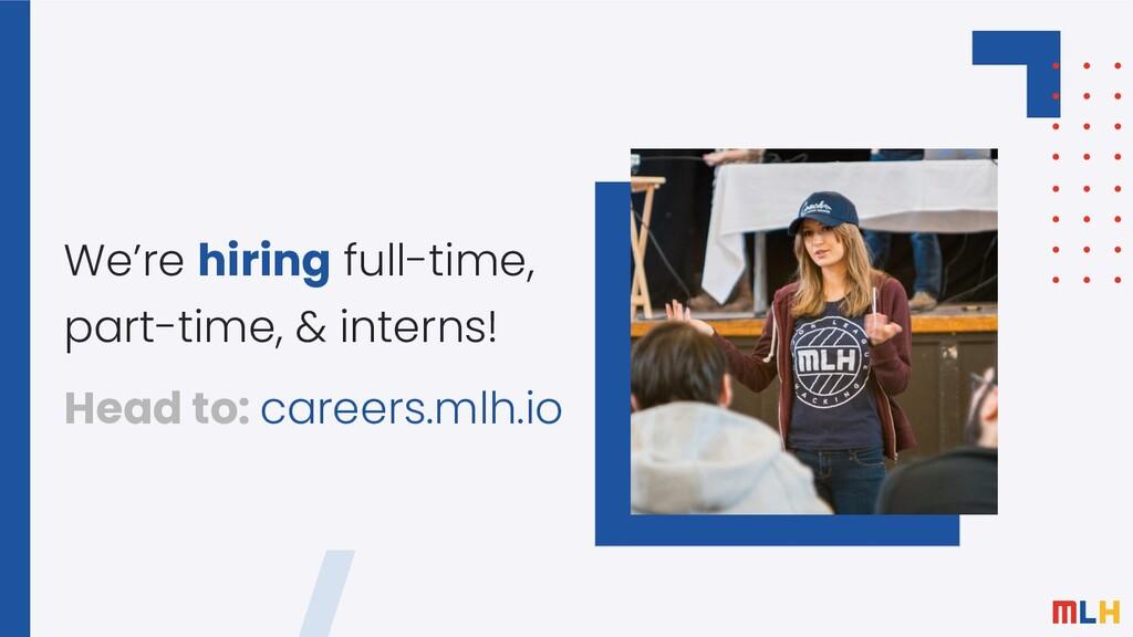 We're hiring full-time, part-time, & interns! H...
