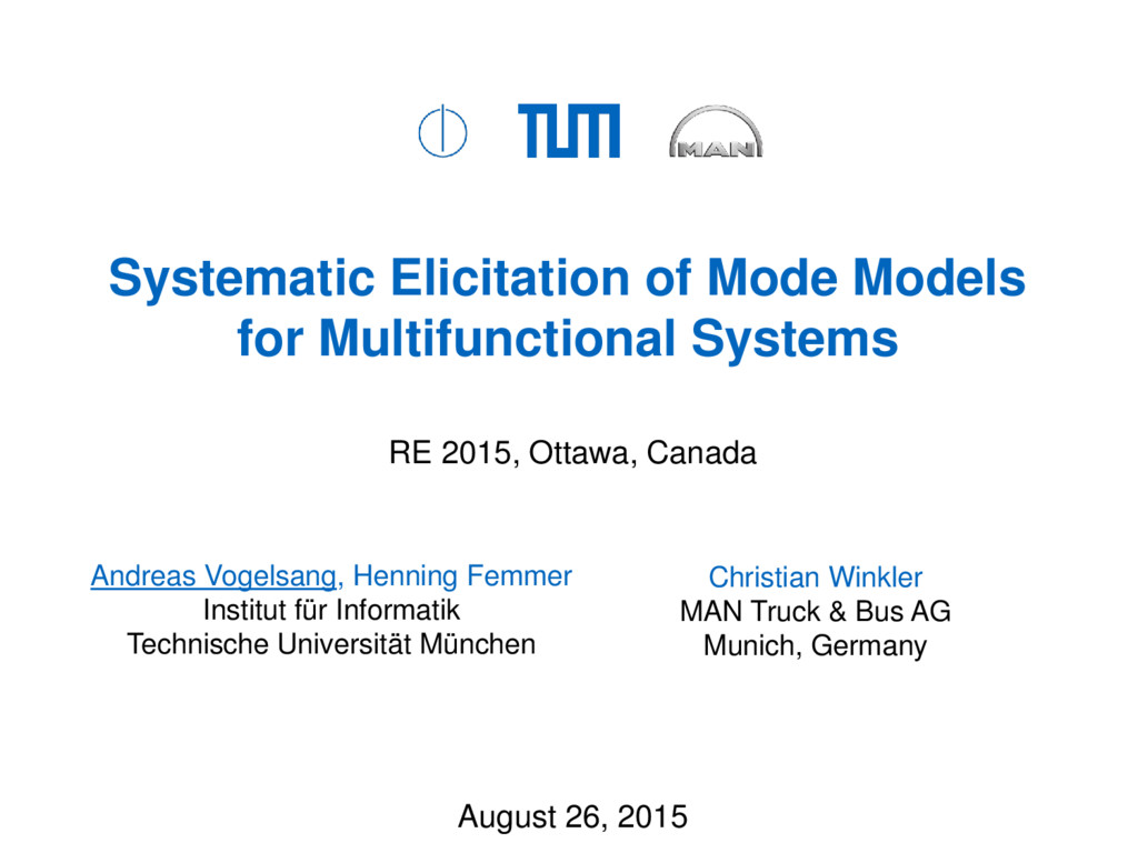 Systematic Elicitation of Mode Models for Multi...