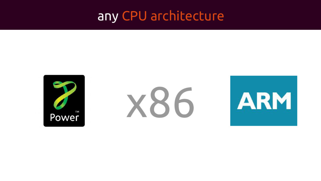 any CPU architecture x86