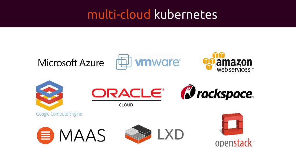 multi-cloud kubernetes LXD