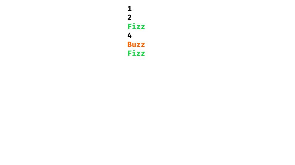1 2 Fizz 4 Buzz Fizz
