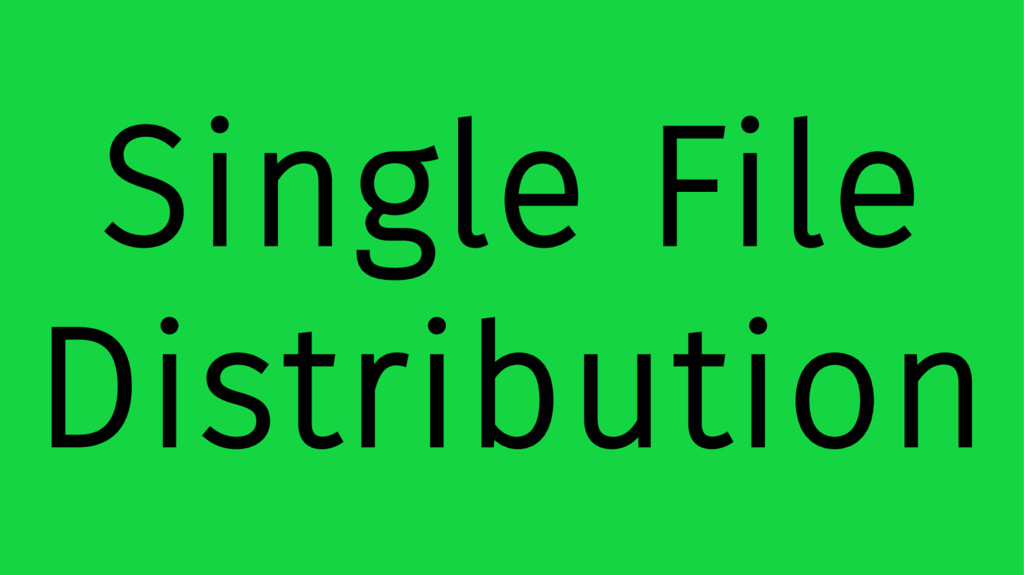 Single File Distribution