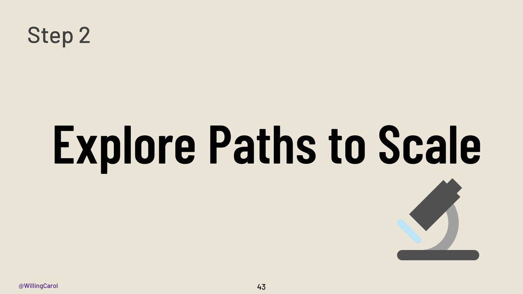 @WillingCarol Explore Paths to Scale 43 Step 2