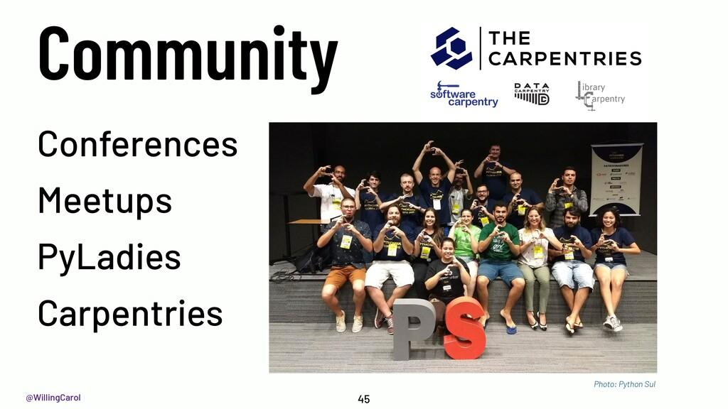 @WillingCarol Community 45 Conferences Meetups ...
