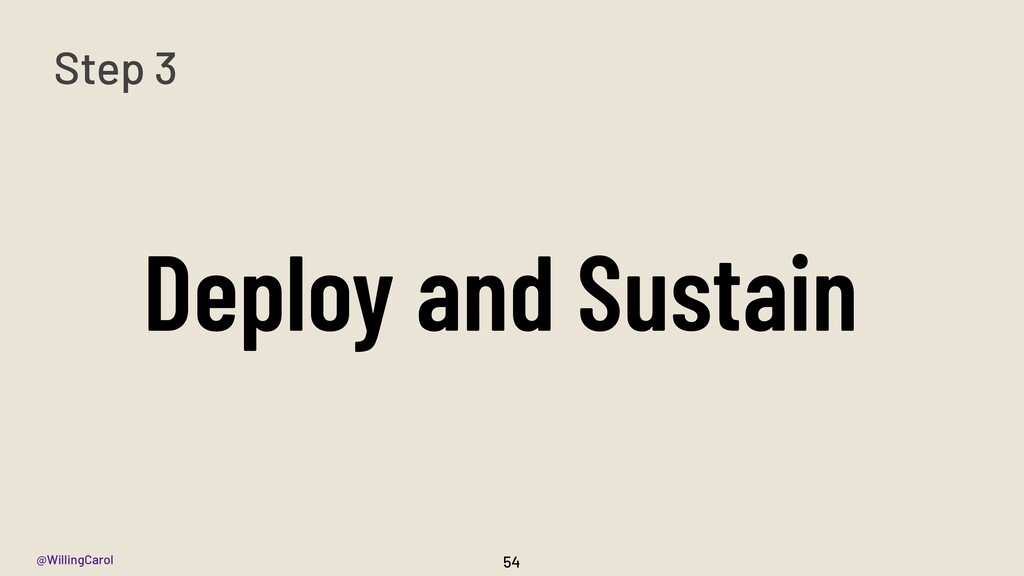 @WillingCarol Deploy and Sustain 54 Step 3