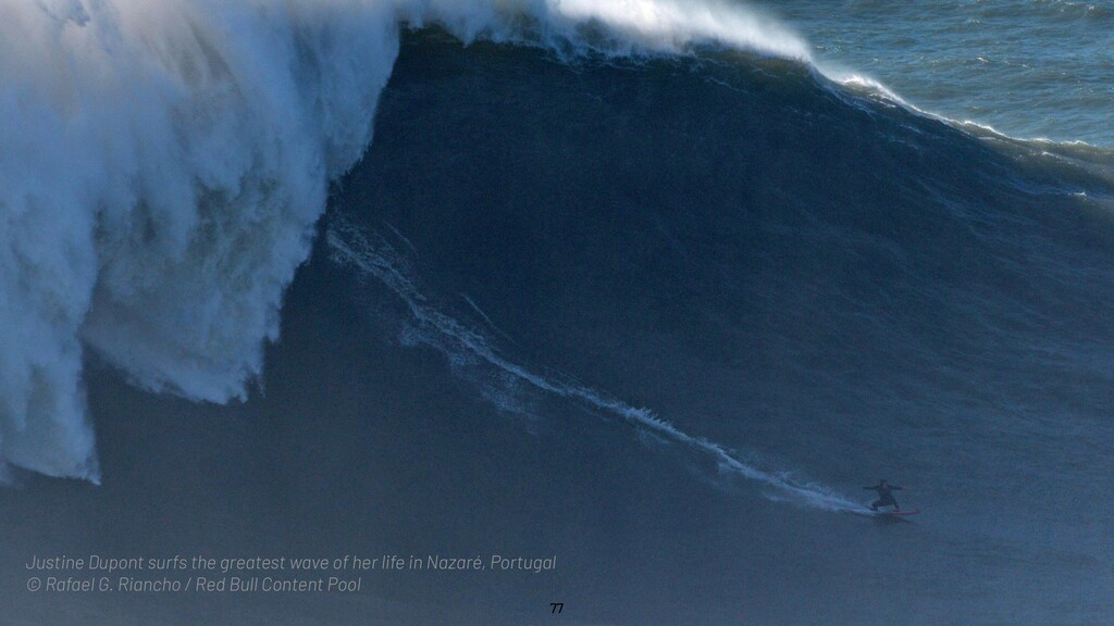 @WillingCarol 77 Justine Dupont surfs the great...