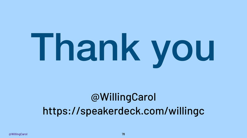 @WillingCarol 78 Thank you https://speakerdeck....