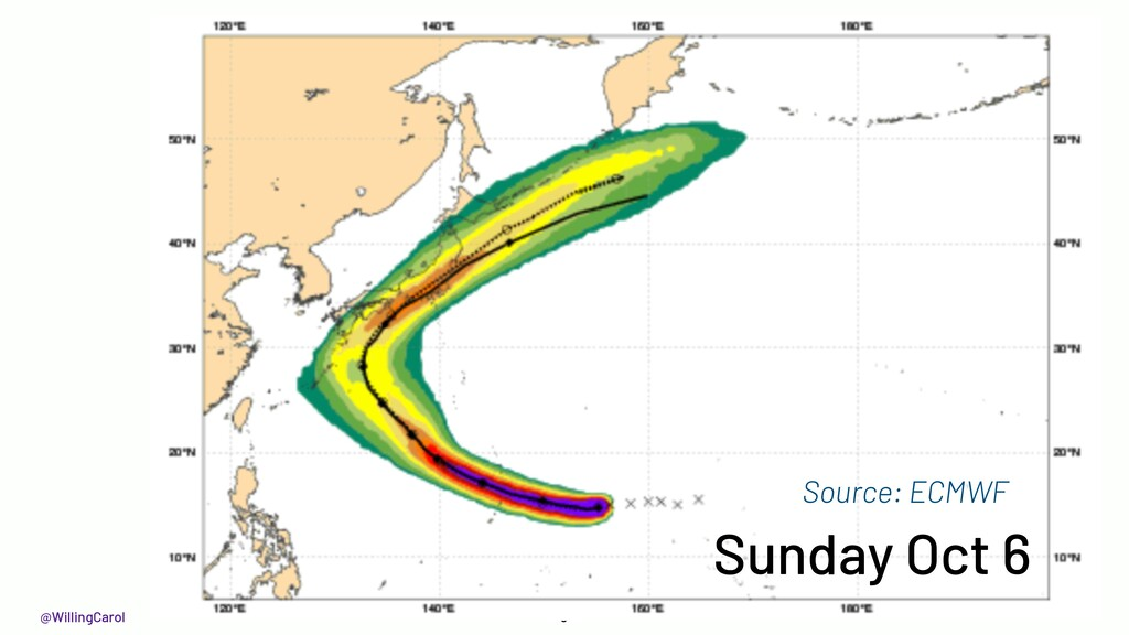 @WillingCarol 9 Sunday Oct 6 Source: ECMWF