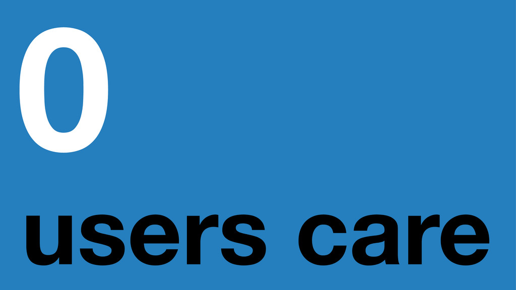 0 users care