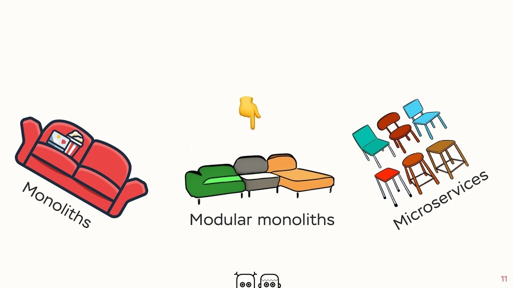 11 Monoliths Microservices Modular monoliths