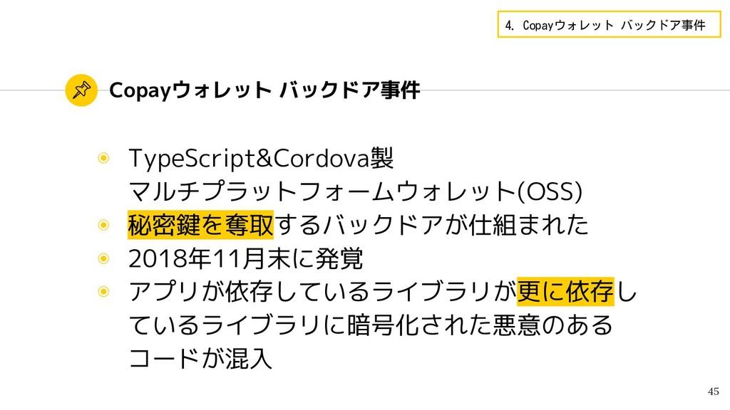 Copayウォレット バックドア事件 ◉ TypeScript&Cordova製 マルチプラッ...