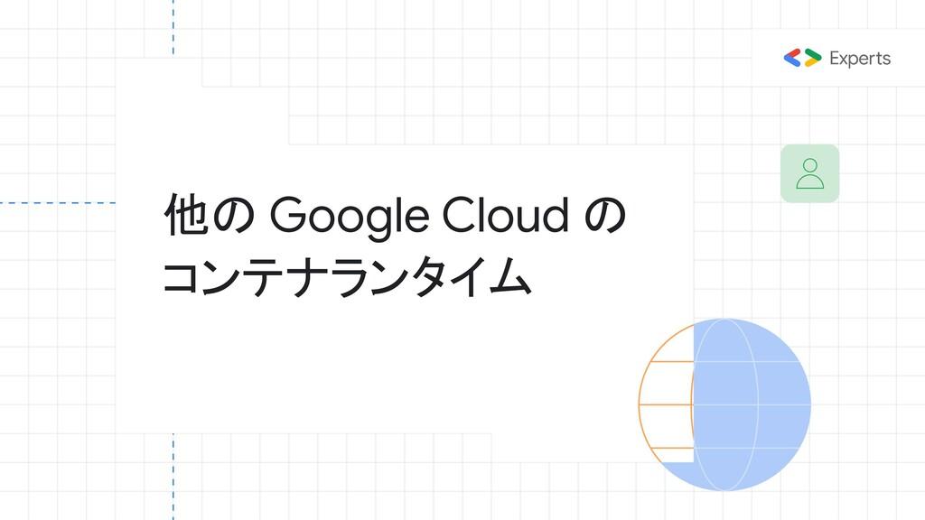 他の Google Cloud の コンテナランタイム