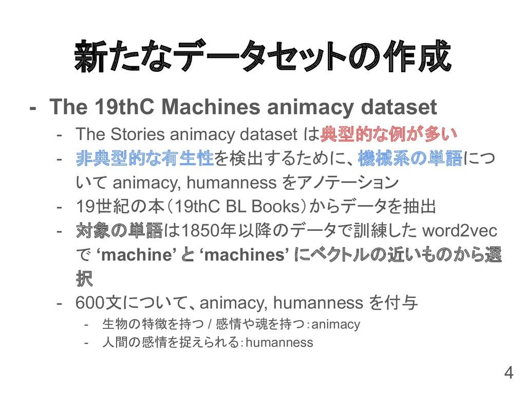 新たなデータセットの作成 - The 19thC Machines animacy datas...