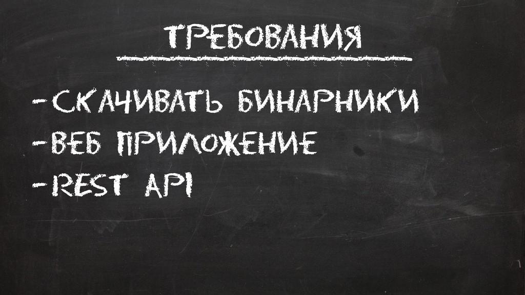 Требования –Скачивать Бинарники –Веб приложение...