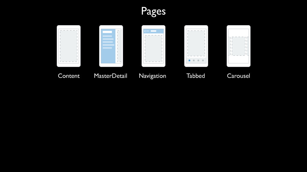 Pages Content MasterDetail Navigation Tabbed Ca...