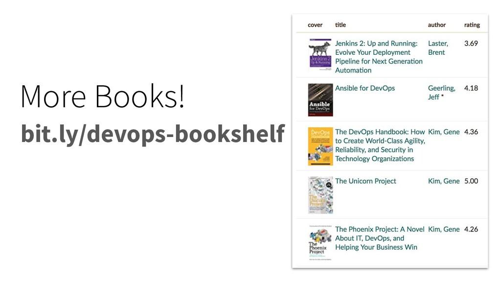 More Books! bit.ly/devops-bookshelf