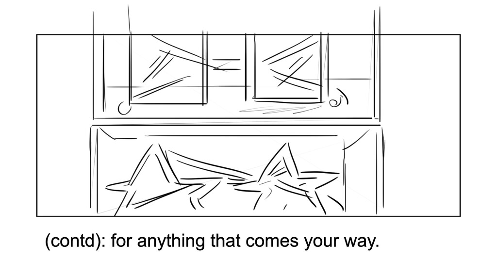 (contd): for anything that comes your way.