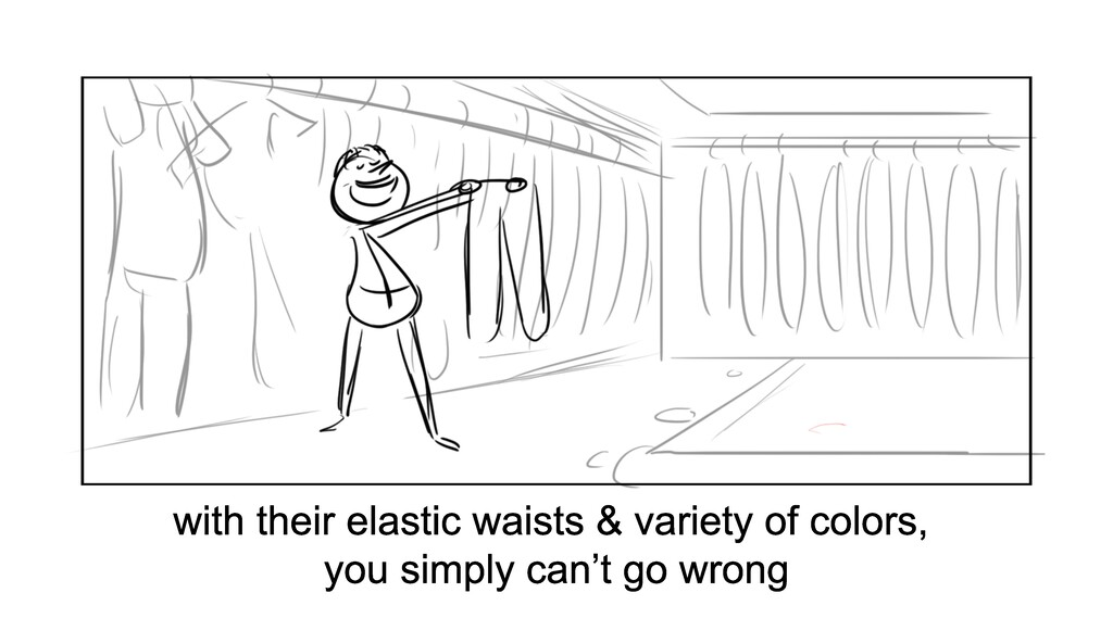 with their elastic waists & variety of colors, ...
