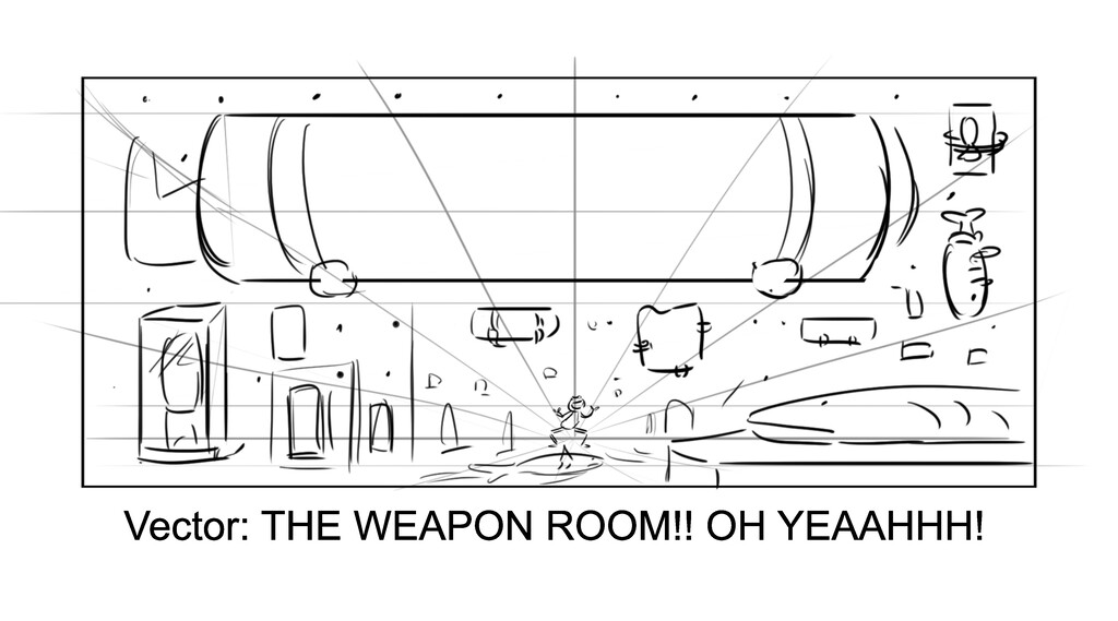 Vector: THE WEAPON ROOM!! OH YEAAHHH!