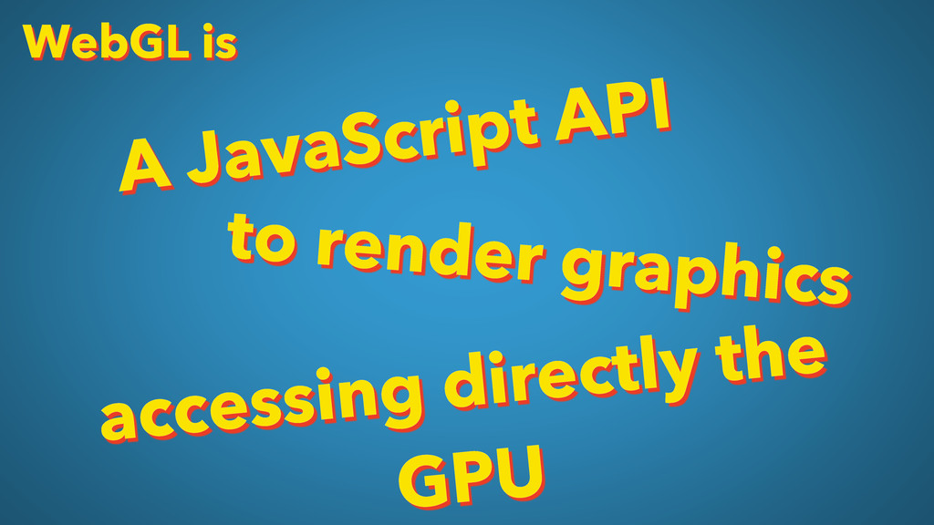 WebGL is A JavaScript API to render graphics ac...
