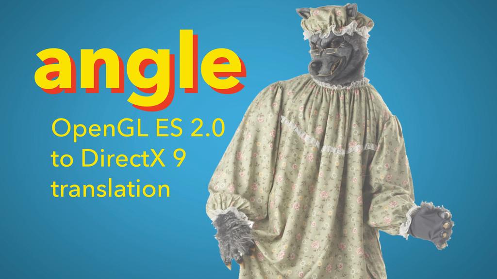 angle angle OpenGL ES 2.0 to DirectX 9 translat...