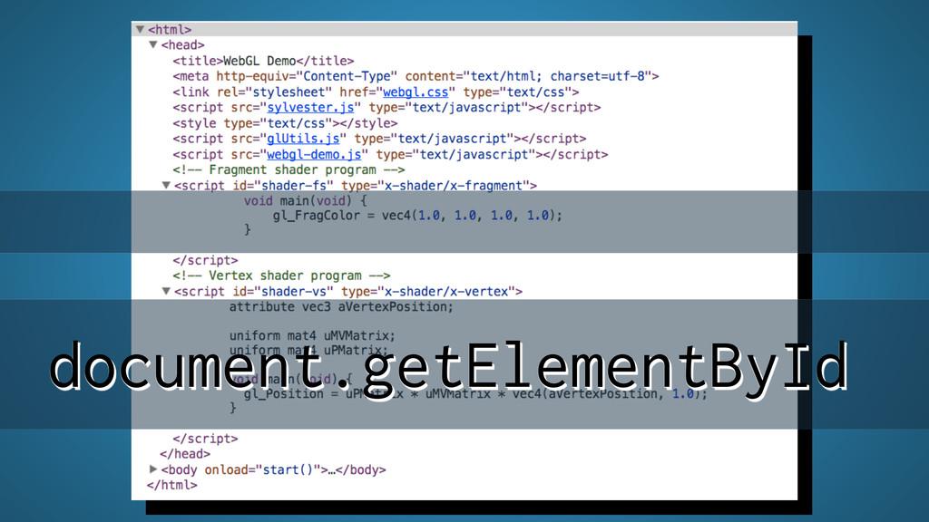 document.getElementById document.getElementById