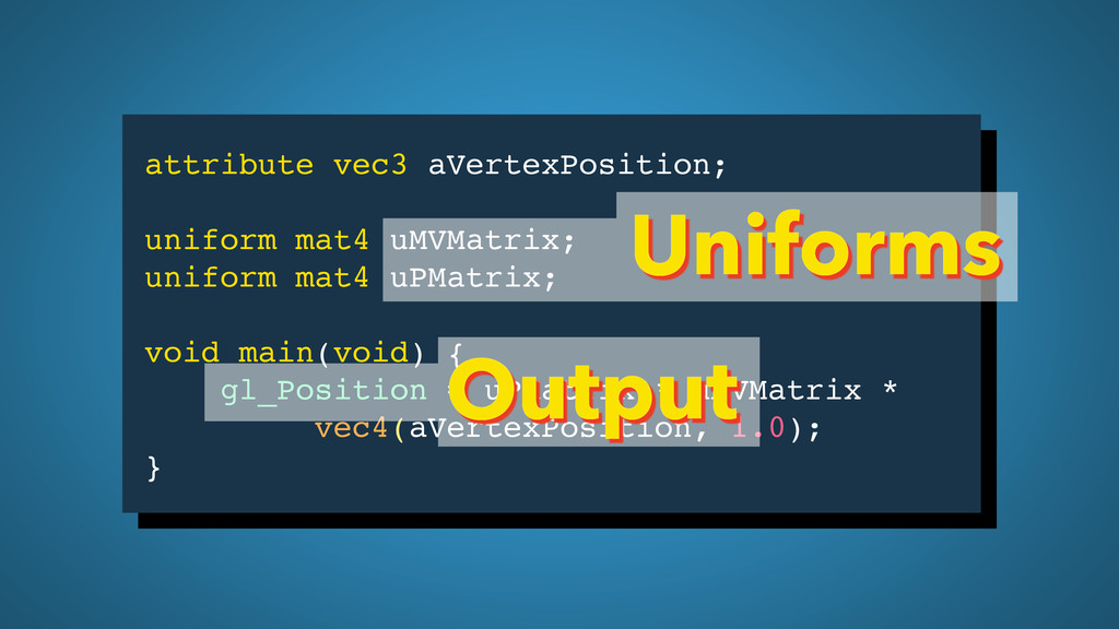 attribute vec3 aVertexPosition; uniform mat4 uM...