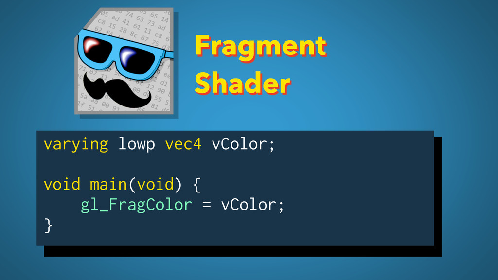 Fragment Shader varying lowp vec4 vColor; void ...