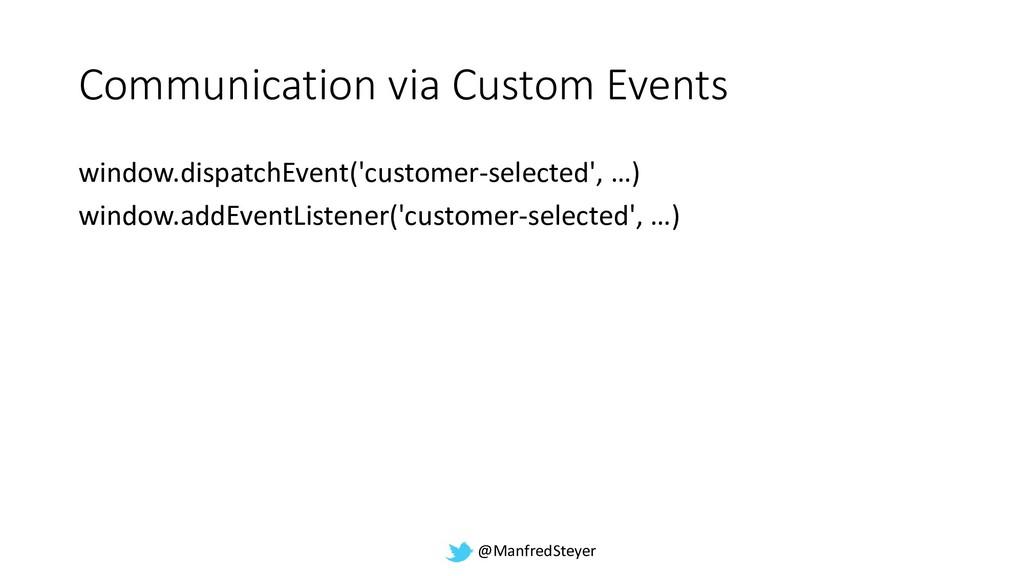 @ManfredSteyer Communication via Custom Events ...