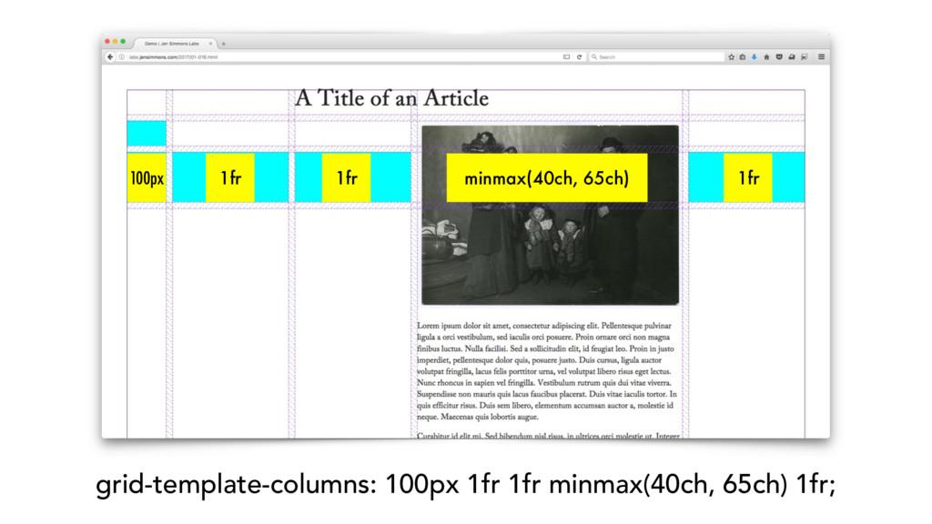 grid-template-columns: 100px 1fr 1fr minmax(40c...
