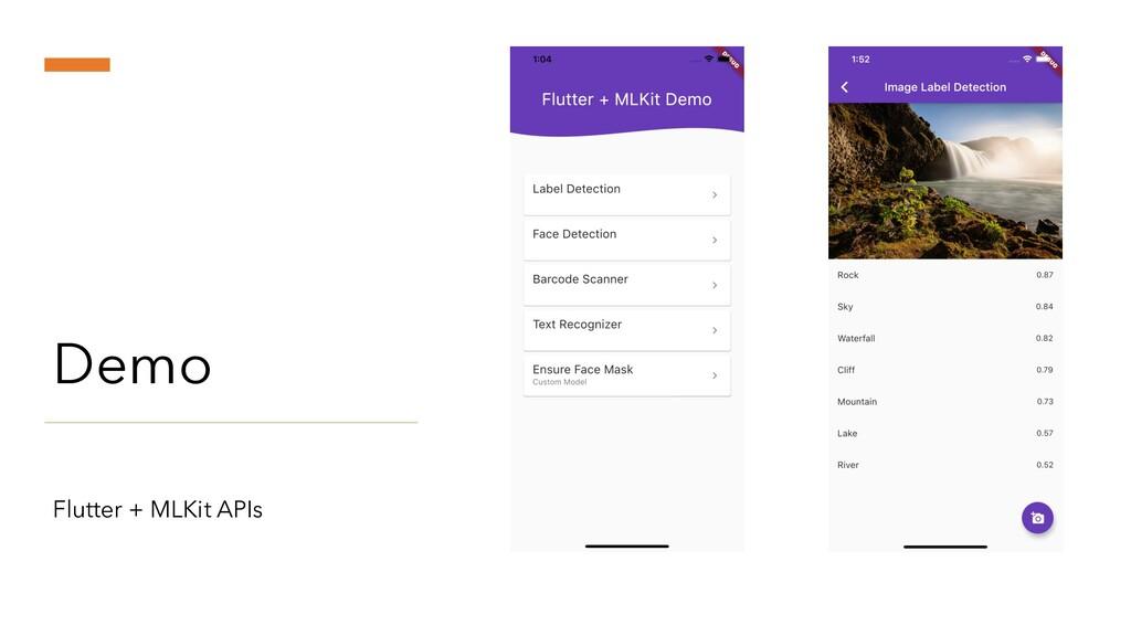 Demo Flutter + MLKit APIs