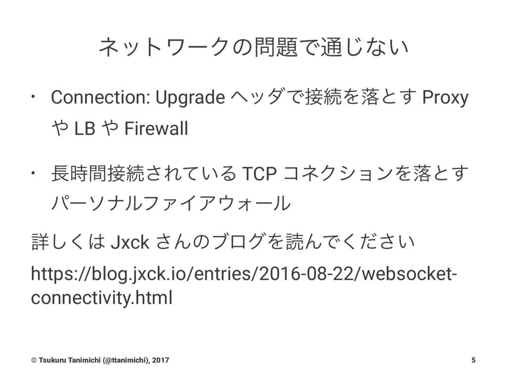 ωοτϫʔΫͷͰ௨͡ͳ͍ • Connection: Upgrade ϔομͰଓΛམͱ͢...
