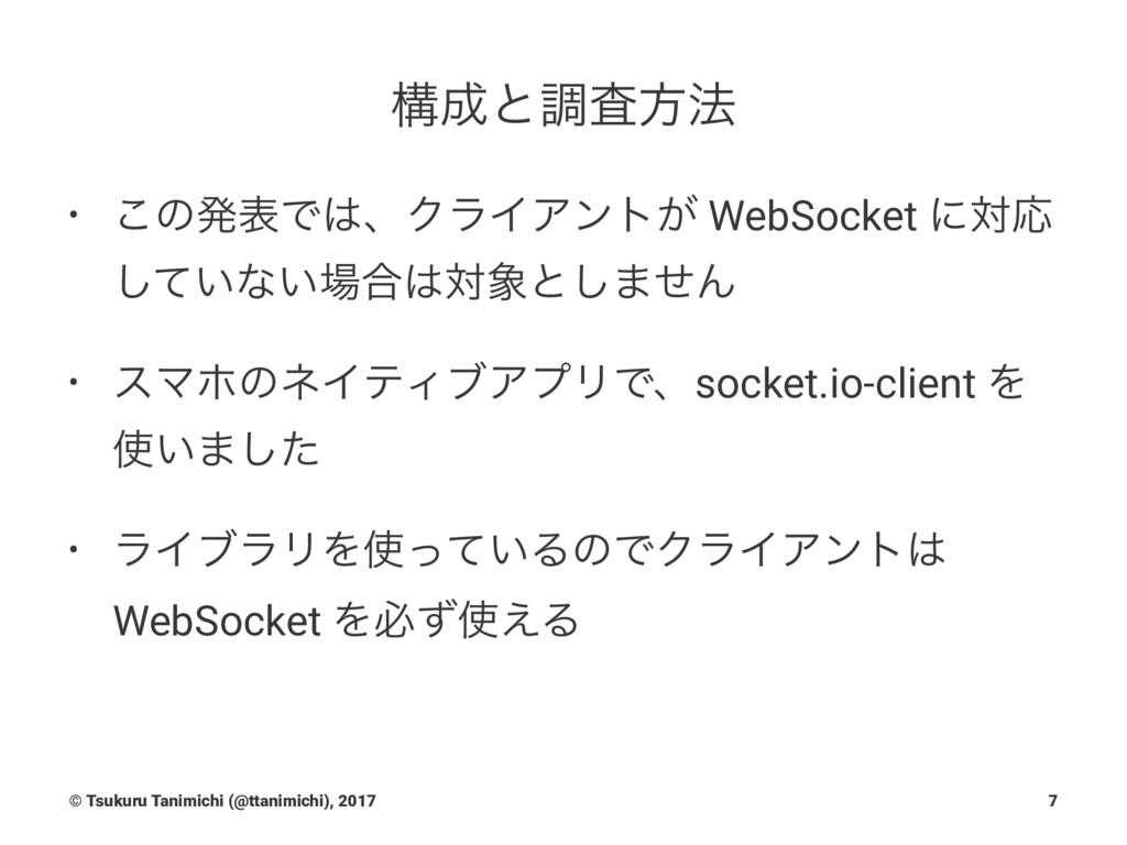 ߏͱௐࠪํ๏ • ͜ͷൃදͰɺΫϥΠΞϯτ͕ WebSocket ʹରԠ ͍ͯ͠ͳ͍߹...