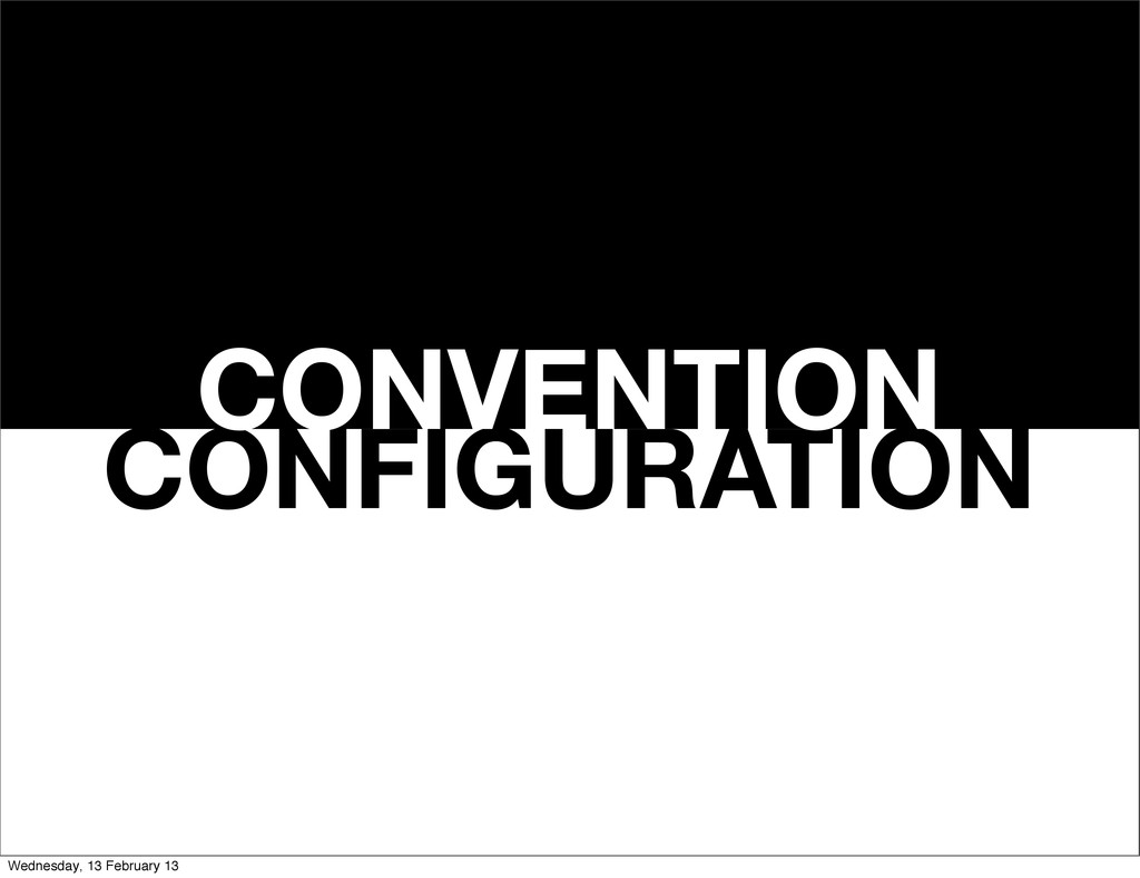 CONFIGURATION CONVENTION Wednesday, 13 February...