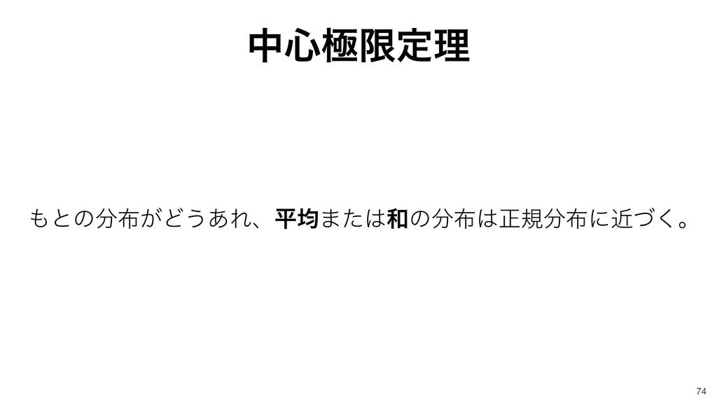 த৺ۃݶఆཧ ͱͷ͕Ͳ͏͋Εɺฏۉ·ͨͷਖ਼نʹۙͮ͘ɻ 74