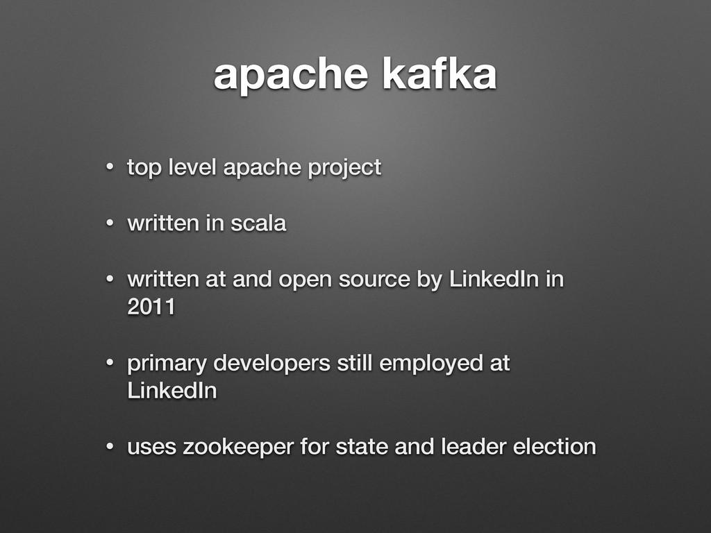 apache kafka • top level apache project • writt...