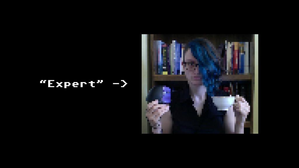 """""""Expert"""" ->"""