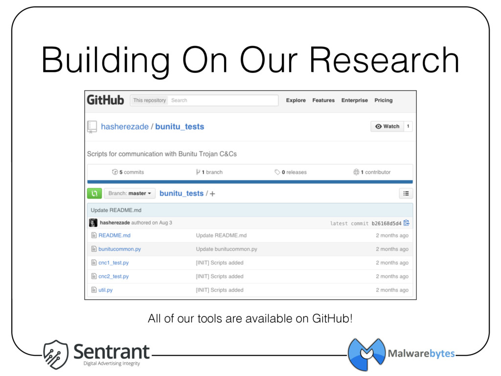Building On Our Research All of our tools are a...