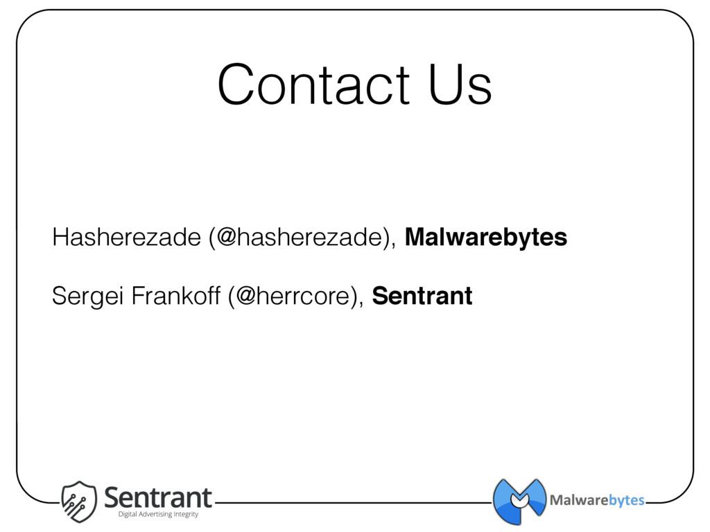 Contact Us Hasherezade (@hasherezade), Malwareb...