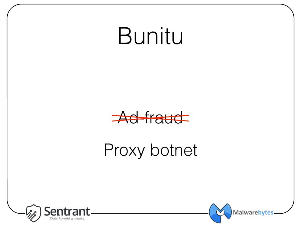 Bunitu Ad-fraud Proxy botnet