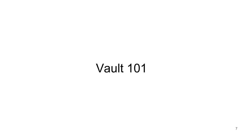 Vault 101 7