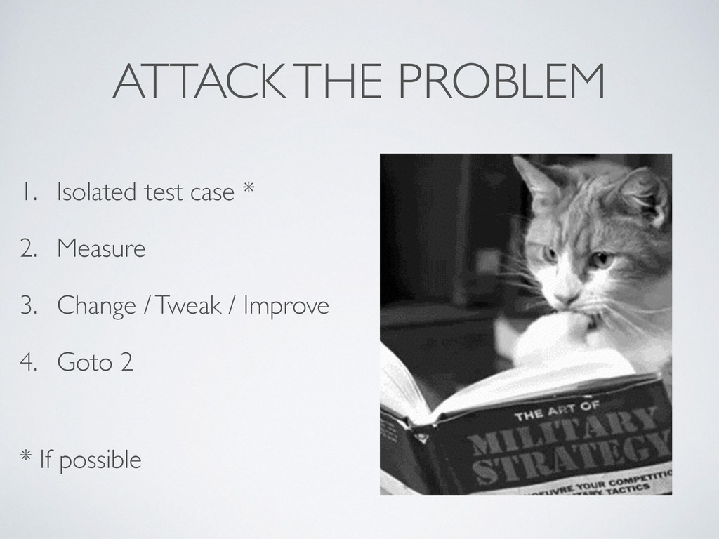 ATTACK THE PROBLEM 1. Isolated test case * 2. M...