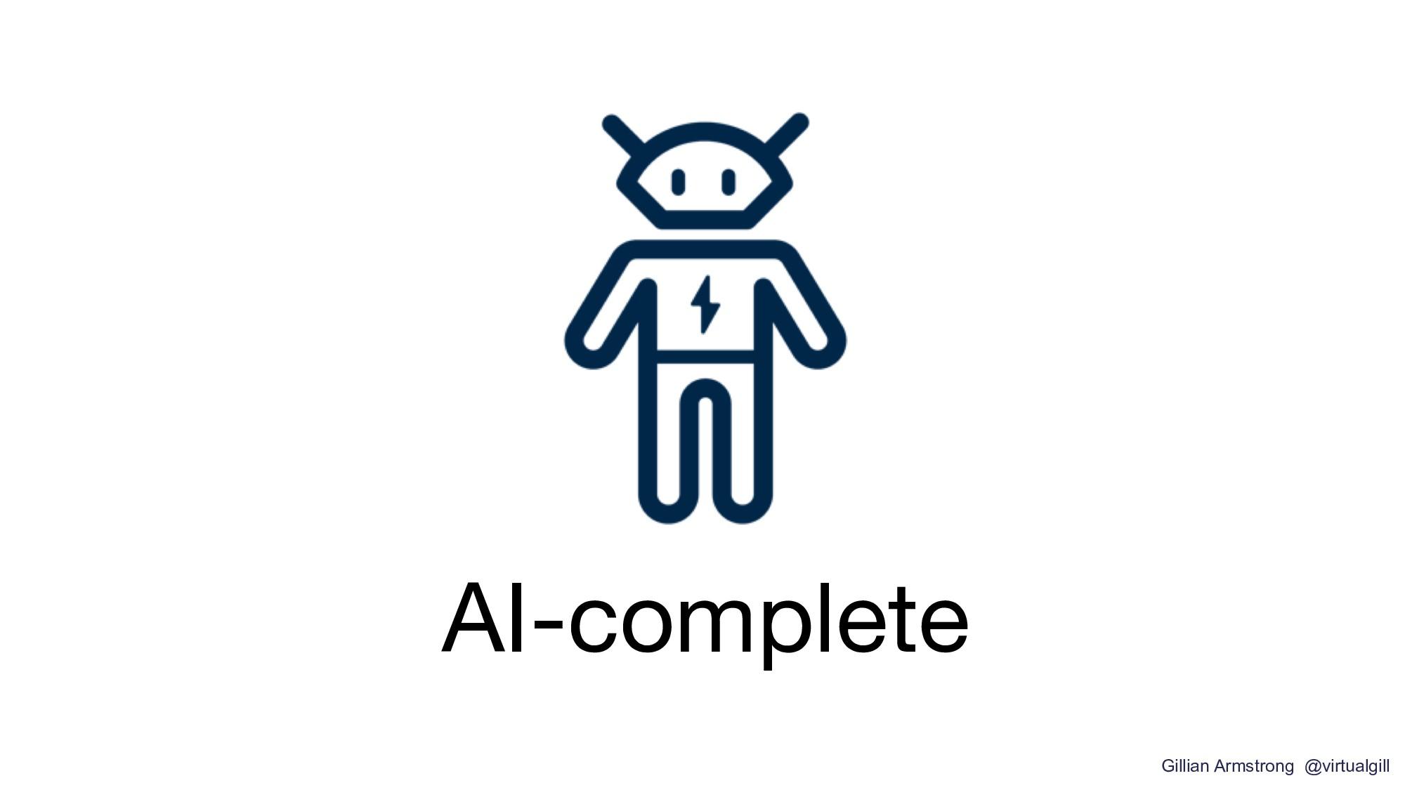 AI-complete Gillian Armstrong @virtualgill