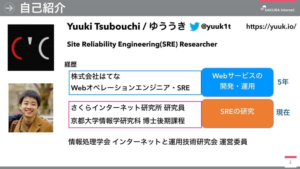 2 ࣗݾհ Yuuki Tsubouchi / Ώ͏͏͖ https://yuuk.io/ ...