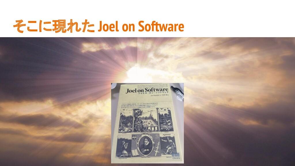 そこに現れた Joel on Software