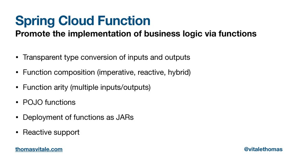 Spring Cloud Function Promote the implementatio...