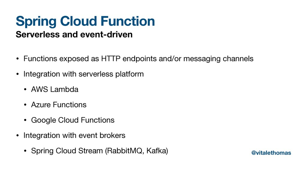 Spring Cloud Function Serverless and event-driv...