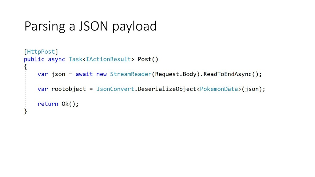 Parsing a JSON payload