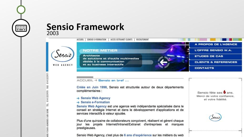 B A Sensio Framework 2003