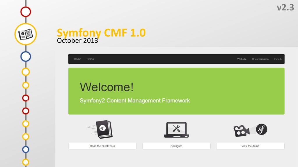 V v2.3 Symfony CMF 1.0 October 2013 T S U R Q P...